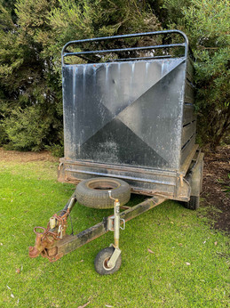2. Heavy Duty Tandem Trailer + Stock Crate