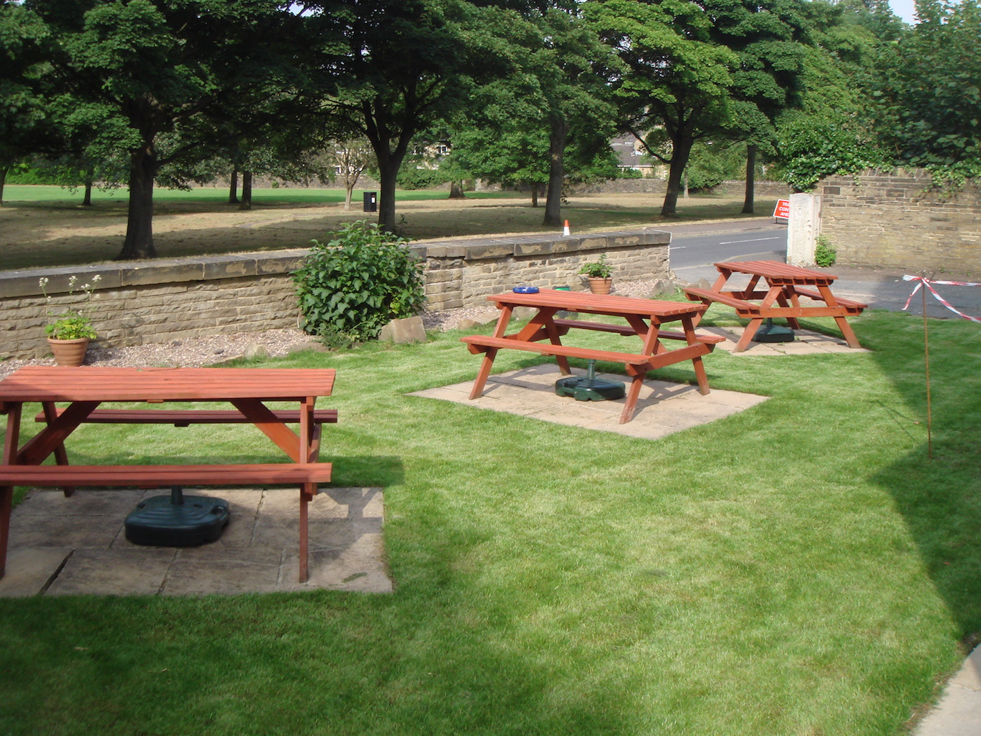 The Lightcliffe Club Beer Garden