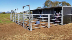 3 Joined Stables with Roof and Yards