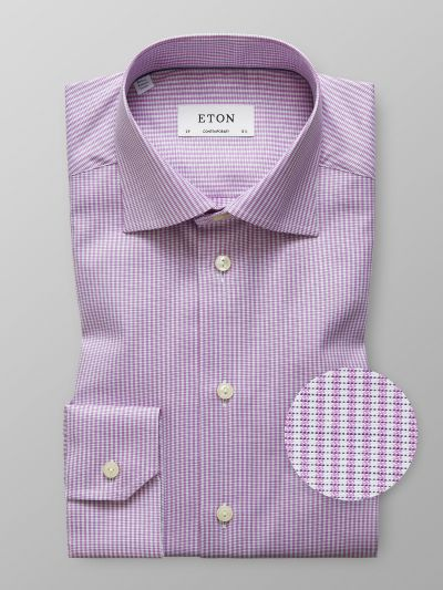 Eton Pink & White Stripe