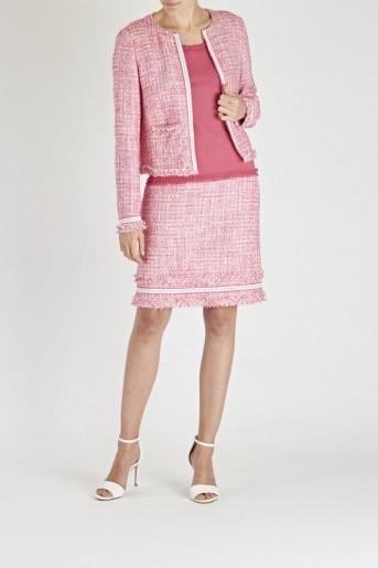 Laurél Pink Tweed Jacket & Skirt