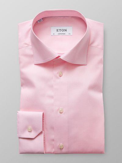 Eton Pink Houndstooth
