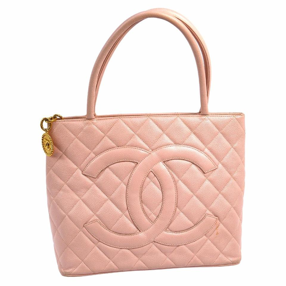 Chanel Medallion Leather Tote