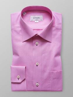 Eton Pink Patterned Twill