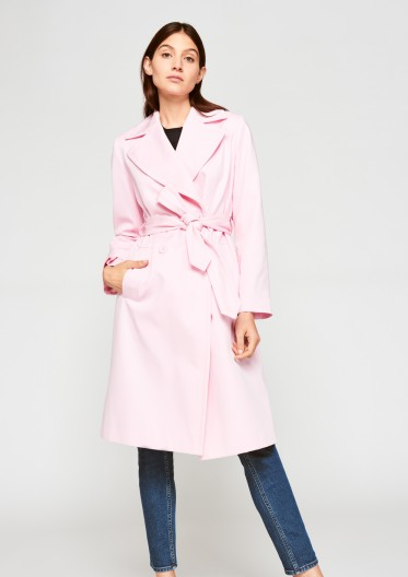 Tara Jarmon Pink Trench Coat
