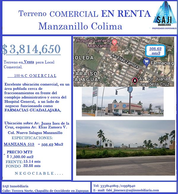 FICHA TECNICA TERRENOS MANZANILLO 508.62