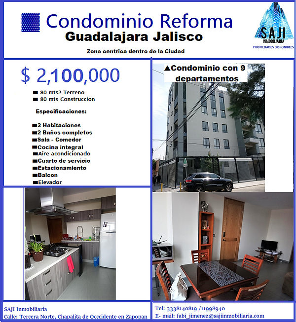 FICHA TECNICA DEPARTAMENTO REFORMA EN Gdl