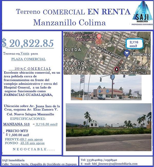 FICHA TECNICA TERRENOS MANZANILLO 2776.3