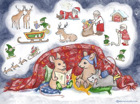 Magic dreams under warm Blanket
