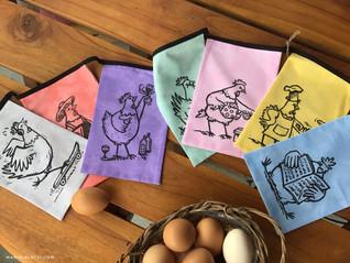 Hühner Girlande