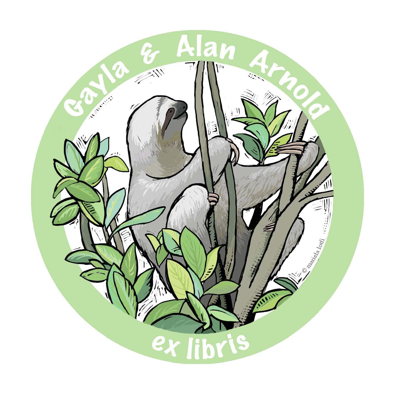 Ex libris Gala & Alan Arnold