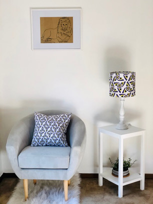 Accent Lamp Shade w/matching pillow
