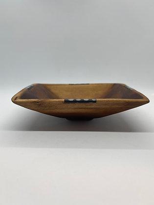 OLIVE WOOD 4-CORNER BOWL