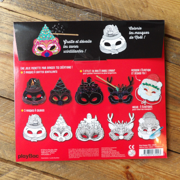 Masques à gratter - EDITIONS PLAYBAC -