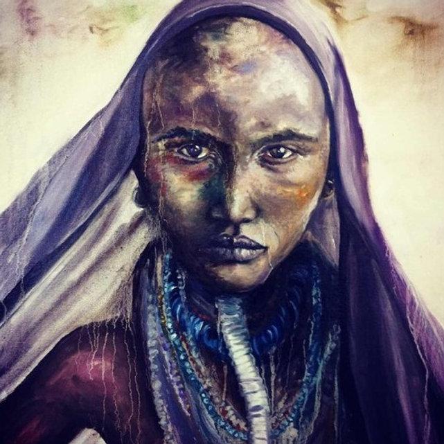 painting portrait art oils sands