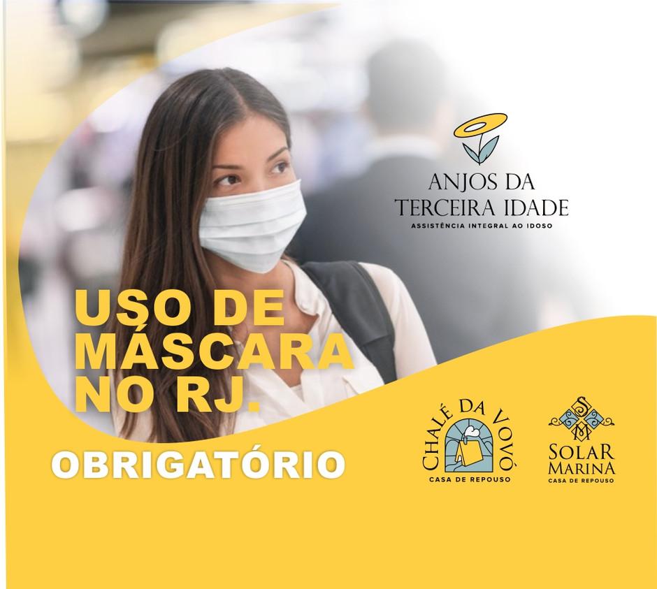 A partir de 23 de abril o uso de máscara será obrigatório na cidade do Rio de Janeiro.