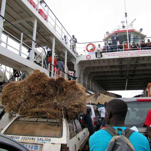 Ferry ride, to the north side of the Gambia River.