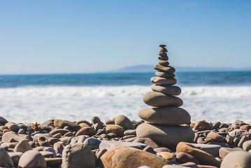 Image_Stacked Rocks horizontal ocean bac