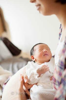 出産撮影、ニューボーンフォトのハレノヒ写真。院内撮影5