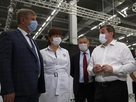 ВОКБ №3 приняла активное участие в открытии самого большого прививочного центра