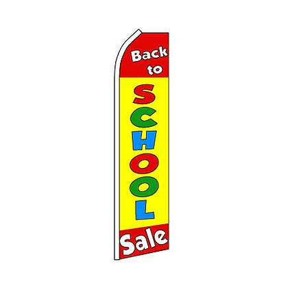 Back To School Swooper Flag w/ Pole