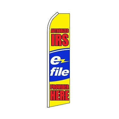 Tax E-File Swooper Flag w/ Pole