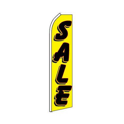 Sale Yellow & Black Swooper Flag w/ Pole