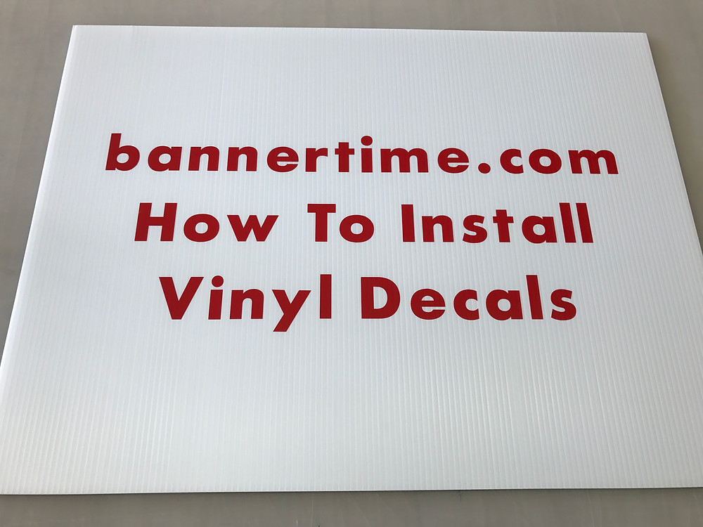 Instructions on how to install vinyl decals and stickers.