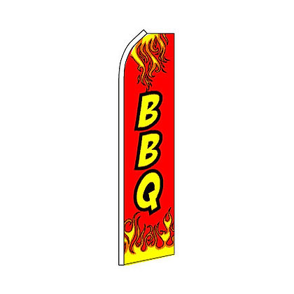 BBQ Red Swooper Flag w/ Pole