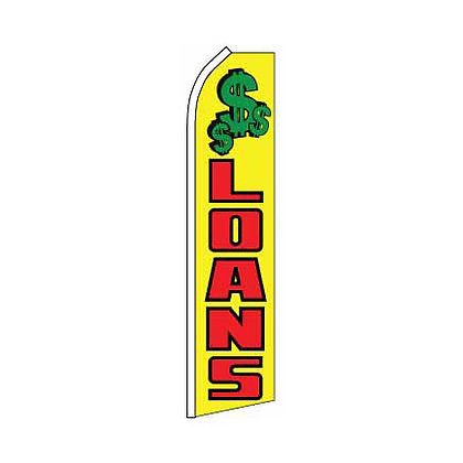 Loans Yellow Swooper Flag w/ Pole