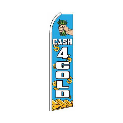 Cash For Gold Swooper Flag w/ Pole