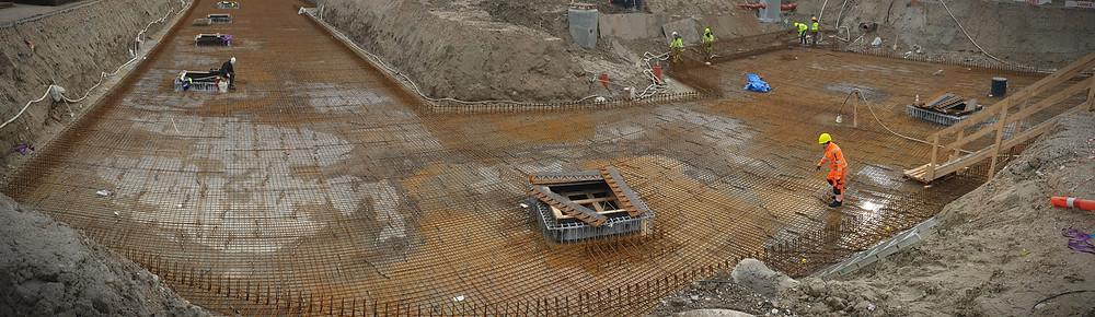 beton, råhus, V8 Construction, Petri & Haugsted, Solstra, armeringsnet, betonpumpe