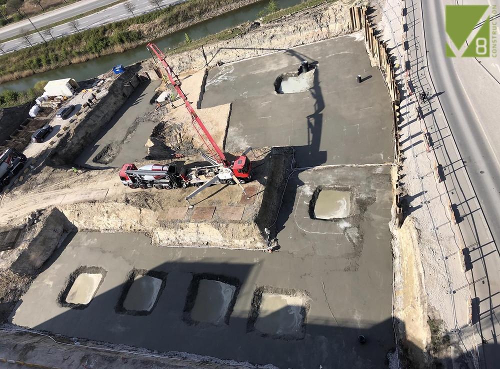 v8 construction, in situ beton, betonarbejde, norDC, nor|DC, nor-byg, Bellakvarteret, bundplade, armering.
