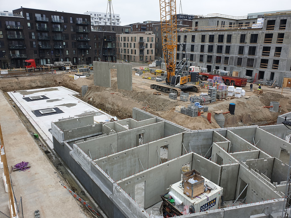 Beredskab, Covid-19, Bella13, Bella5, produktion, fabrik, beton, V8 Construction, norDC, nor|DC, bundplade, in situ, Petri & Haugsted