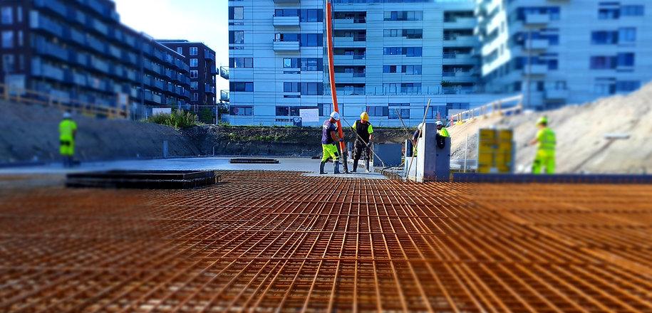 v8 Construction, Lyngby Boldklub, norDC, nor|DC, nor-byg, In situ beton, armering, MOE, terrændæk, bundplade, glittet overflade