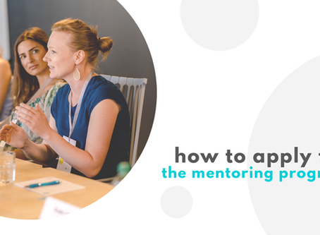 How to apply for the female factor mentoring program