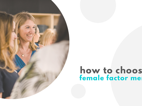 How to pick the right female factor mentor from our mentoring program