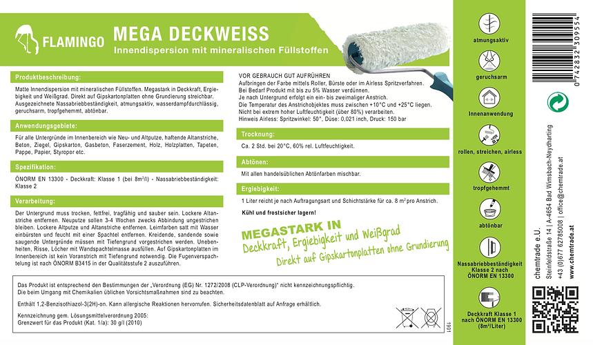 Flamingo Mega Deckweiss Produktbeschreib