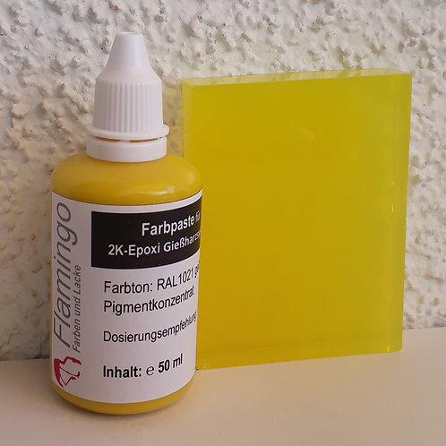 Flamingo Farbpaste gelb für 2K Epoxi Gießharzsystem Inhalt: 50 ml
