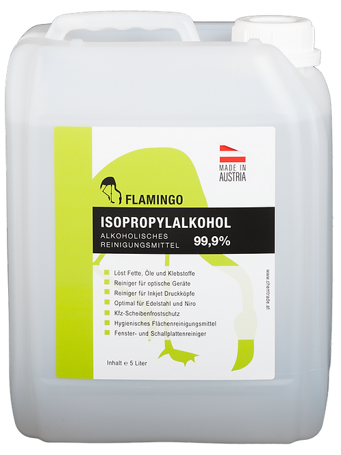 Flamingo Isopropylalkohol 99,9% Inhalt: 5 Liter