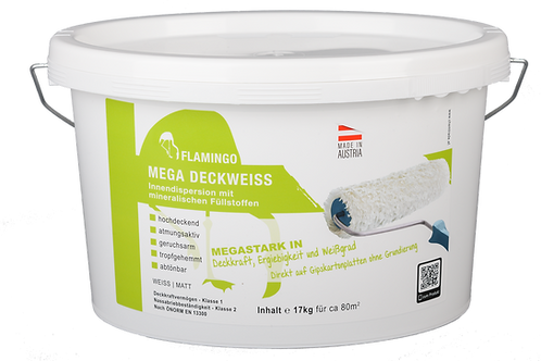 Flamingo Mega Deckweiss Inhalt: 17 kg