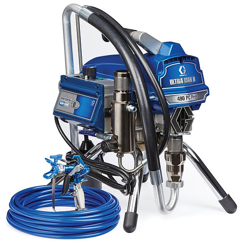 17E852- Graco Ultra Max II 490 PC Pro Electric Airless Sprayer, Stand