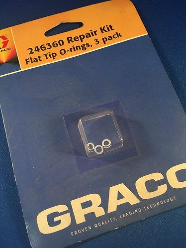 246360 Graco Flat tip sealing o-rings for Fusion gun