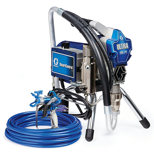 17E844- Graco Ultra 395 PC Electric Airless Sprayer, Stand