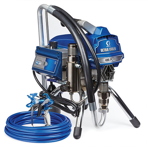 17E855- Graco Ultra Max II 495 PC Pro Electric Airless Sprayer, Stand