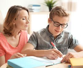home schooling mutter mit jungen