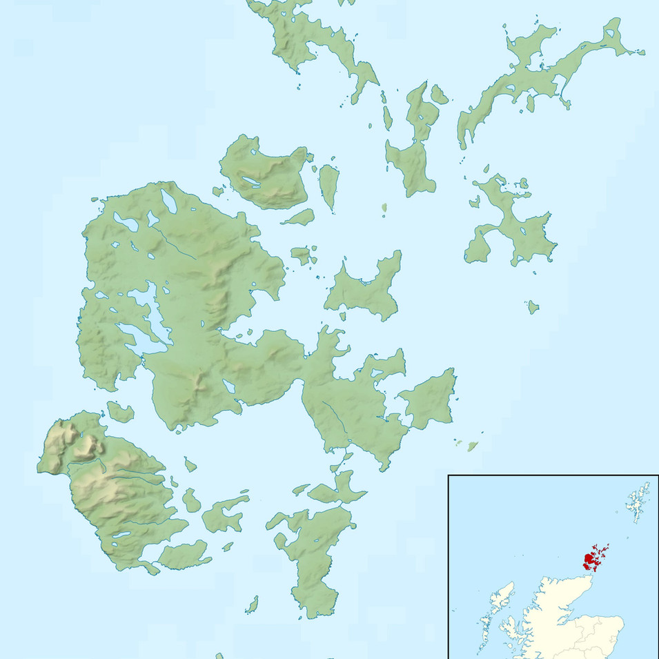 Map of The Orkney Islands