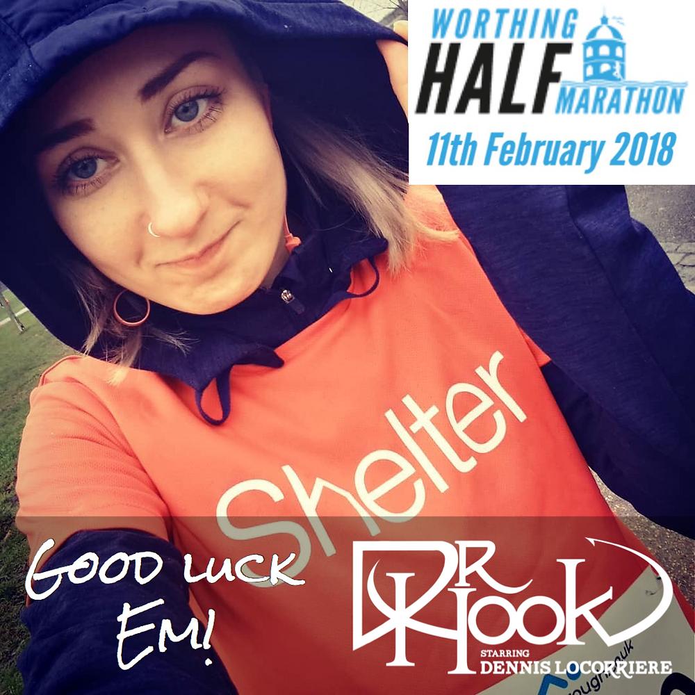 Dr Hook's Emma-Lee Curtis | Worthing Half Marathon | 12.02.18 | Shelter UK
