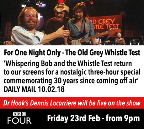 Dr Hook'sDennis Locorriere Live on TheOld Grey Whistle Test30 Year Commemoration