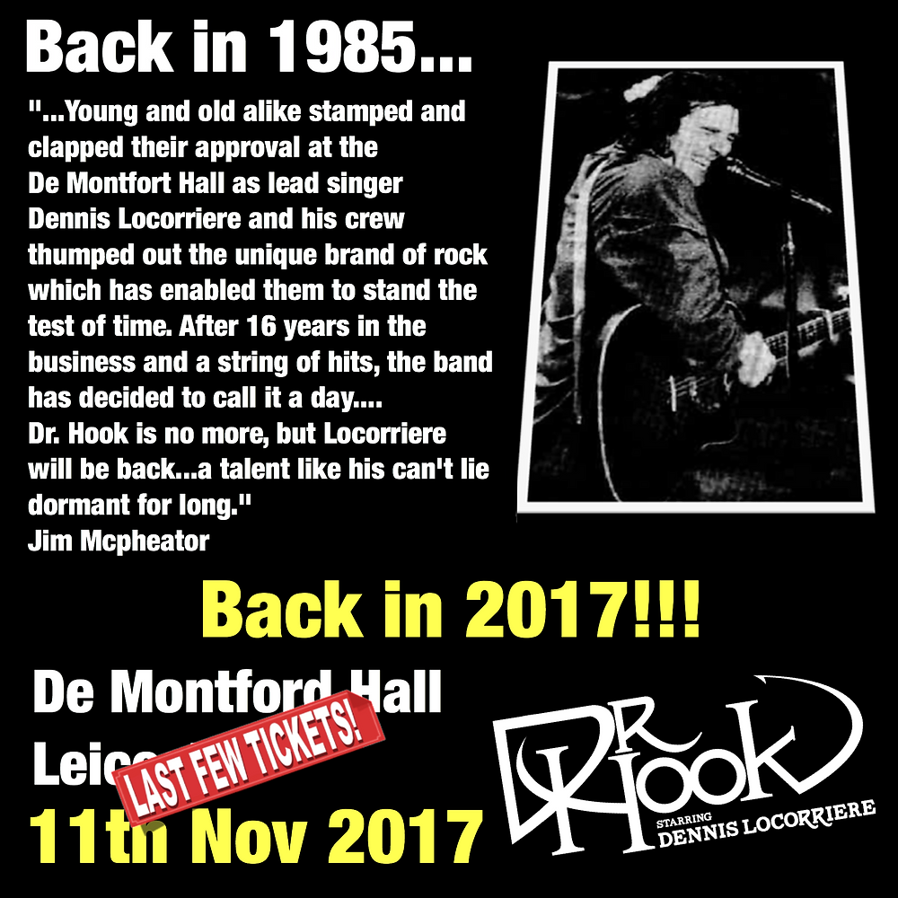 Dr Hook | De Montfort Hall | UK 2017